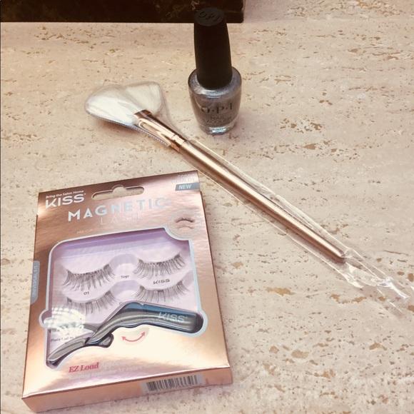 Morphe Makeup   Kiss Magnetic Eyelashes Opi Nail Brush   Poshmark